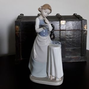 """Ironing Girl "" from Lladro Porcelain"